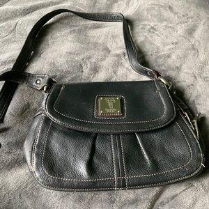 Tignanello Black Genuine Leather Bag.  Almost new!